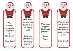 santa jokes bookmarks
