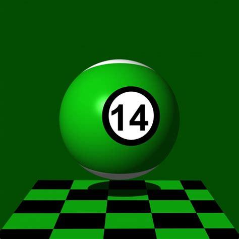 green billiard number   stock photo public domain