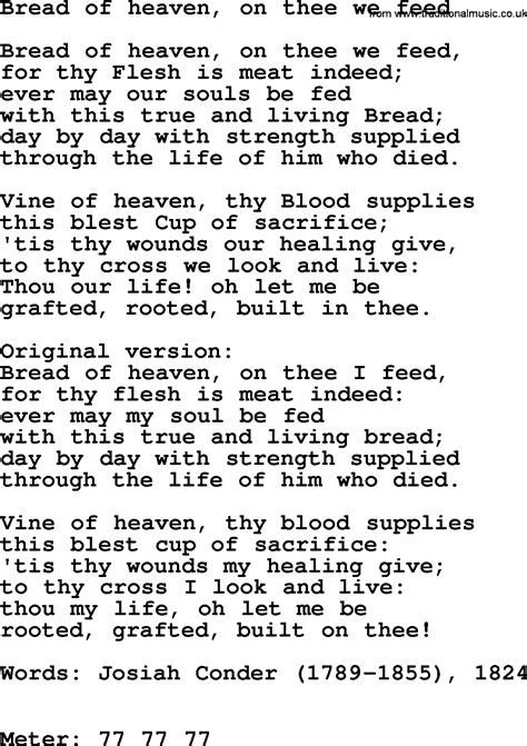 songs of heaven writing songs for contemporary worship books hymns ancient and modern song bread of heaven on thee