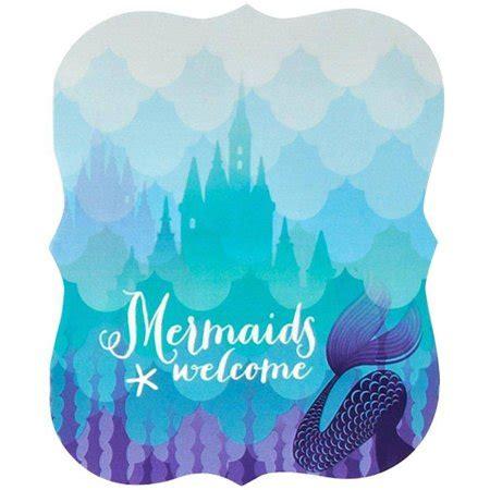 Mermaids Under the Sea Invitations, 8pk   Walmart.com