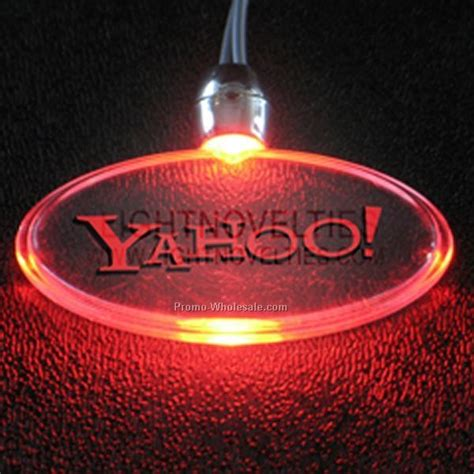 flashing blinky lights coupon blinking red light up oval pendant necklace wholesale china