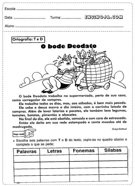 Atividades de Português 4° ano - Ensino Já