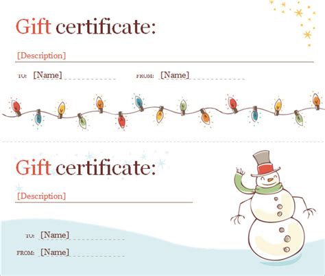 gift card template docs finding proper gift certificate template word