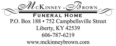 mckinney brown funeral home liberty ky funeral
