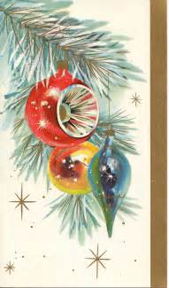 vintage christmas card ornament tree by antiquewhisperer on etsy