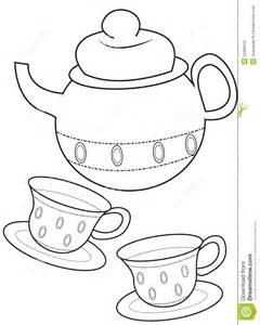 teacup coloring page stock illustration image 50480610