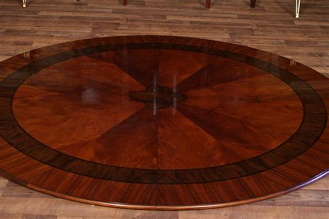 large round dining room tables 84 quot high end large round mahogany dining table with 2