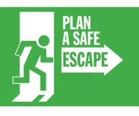 escape route template safety escape route pictures to pin on