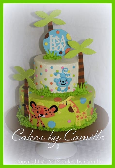 fisher price baby shower theme fisher price jungle theme baby shower cake jungle zoo