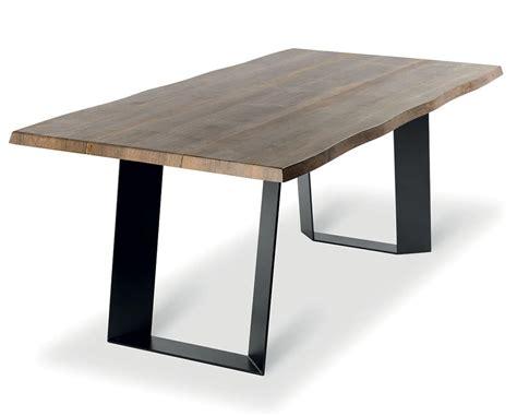 tavoli in legno massiccio tavolo fisso in metallo e legno massiccio invecchiato