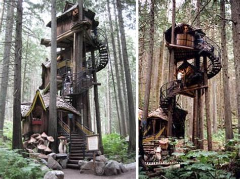 real life treehouse fantasy forest tree house straight out of a kids story