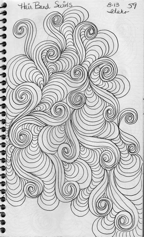 pattern drawing book luann kessi sketch book swirl designs
