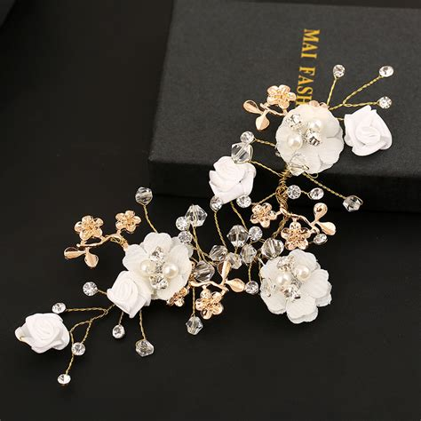 Handmade Bridal Hair Accessories - handmade bridal hair accessories wedding hair comb gold