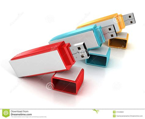 Colorful Usb Flash Drives by 3d Set Of Colorful Usb Flash Drives Sticks Stock Photo