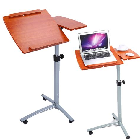 angle height adjustable rolling laptop notebook desk  sofa bed stand ebay