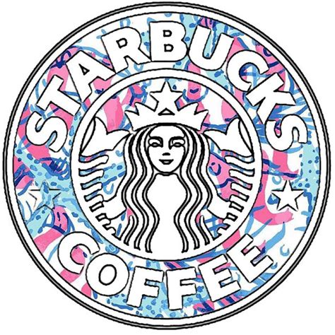 lilly pulitzer starbucks lilly pulitzer vinyl starbucks sticker by thelittlebluebow88