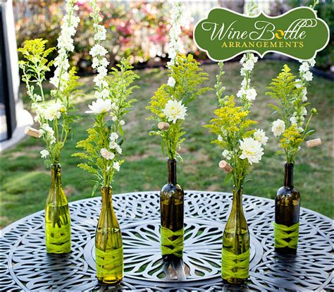 beautiful and creative wedding centerpieces with wine