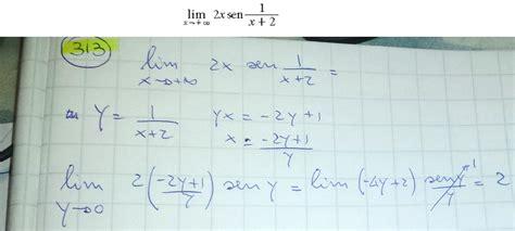 limite tende a infinito limite di x tende a infinito di 2x sen 1 x 2