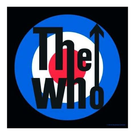 the who target mod logo single coaster music kitschagogo