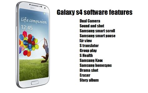 galaxy s4 features galaxy s4 software features explained