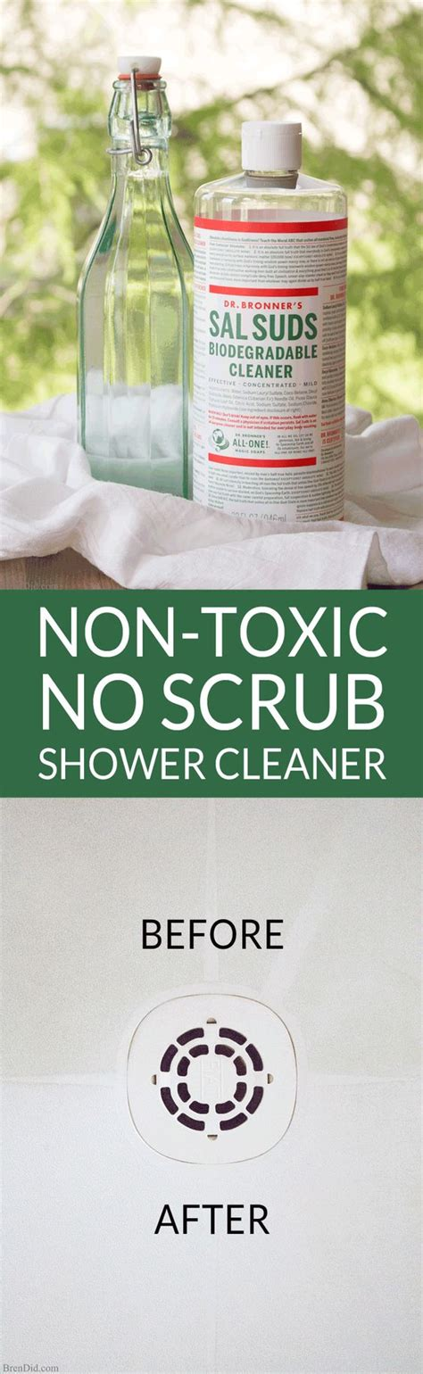 best non toxic bathroom cleaner non toxic no scrub shower cleaner clean shower shower