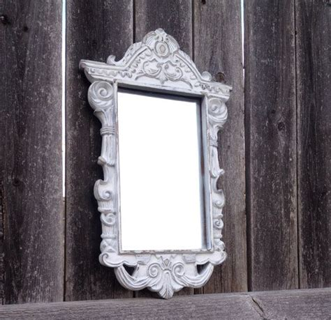 shabby chic mirror white distressed mirror frame ornate decorative wa