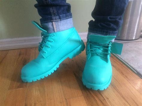 on quot back at it custom timbs made by me