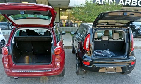 Kia 500l Kia Soul Photos Fiat 500l Vs 2012 Kia Soul Cargo Area