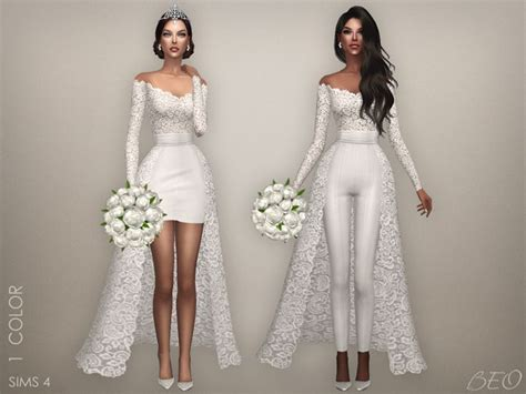 Dress Polka Princess Fit 3 4th Cc cc finds wedding collection by beo ts4 clothing wedding dress