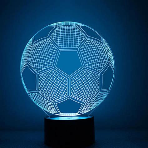 led usb 3d night light projector fashion football dolphin