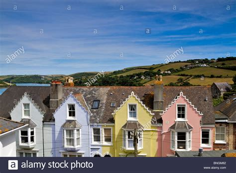 houses to buy in devon colourful row of houses salcombe devon steep streets of this stock photo royalty