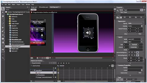 tutorial visual studio blend silverlight 3 intro to animation in microsoft expression