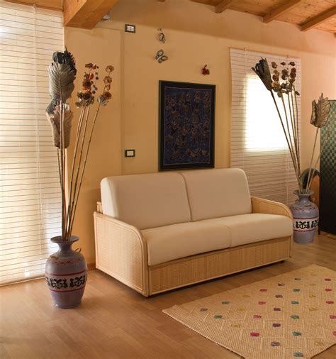 divani in midollino per interni produzione divani letto in rattan midollino giunco