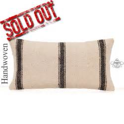 contemporary white kilim cushion cover striped 12x24