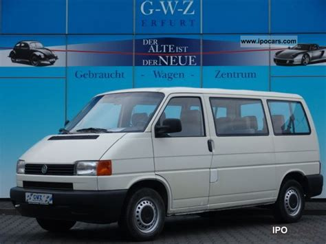 volkswagen bus 2000 2000 volkswagen t4 bus 9sitzer td checkbook 2 hand