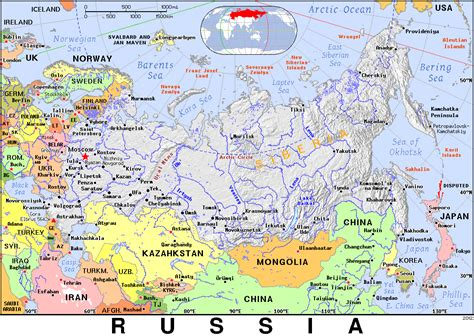 russia map atlas russia map with longitude and latitude