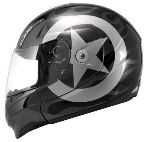 kbc motocross helmets kbc ffr modular full face helmet retro black silver
