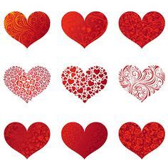 printable red heart shapes printable red heart clipart 70