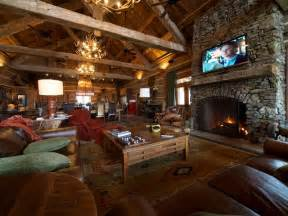 lodge living room hunting lodge great room living room by reclaimed