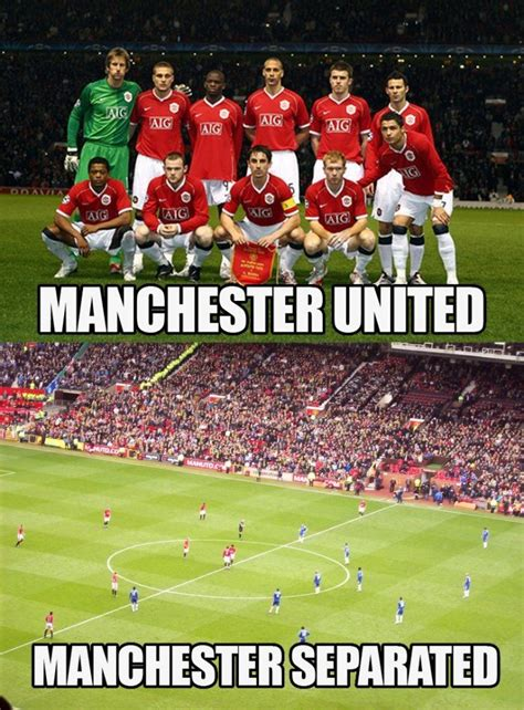 Mu Memes - manchester united manchester separated soccer puns