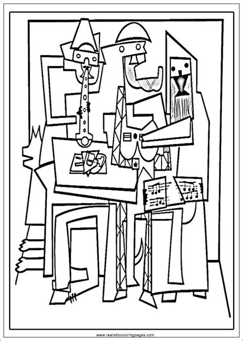 coloring book and the of pablo arts of picasso printable coloring pages realistic