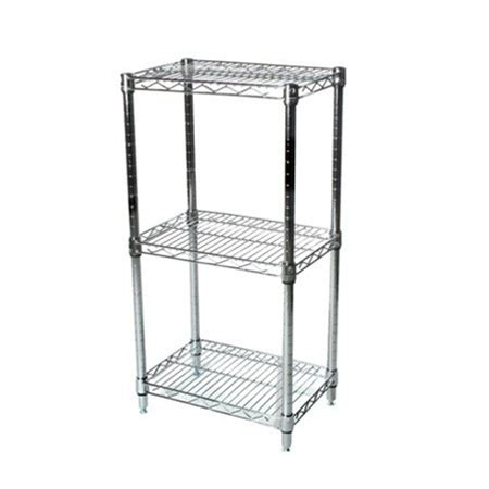 wire shelving racks 14 quot d three tier wire shelving kit
