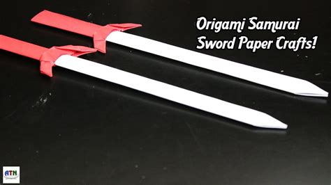 Origami Samurai Sword - origami paper samurai sword knife how to make origami