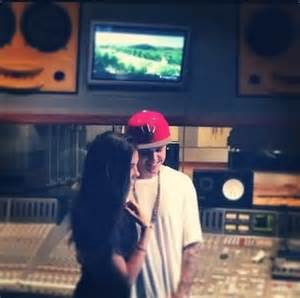 justin biebers visits with his amid the justin bieber madison beer hit studio amid selena gomez