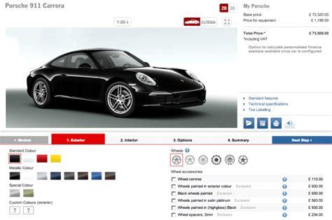 Porsche Car Configurator by Car Configurator Total 911