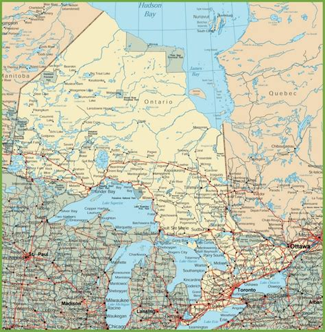 map of canada roads ontario road map