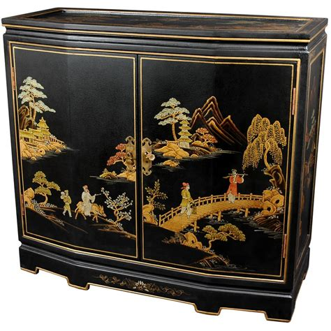 japanese black lacquer cabinet furniture black lacquer japanese slant front