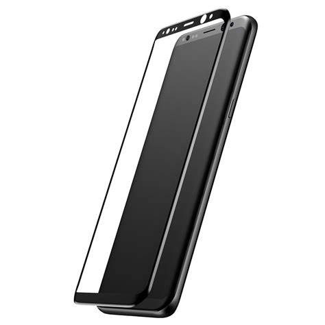 samsung galaxy s8 baseus 3d arc tempered glass screen protector black