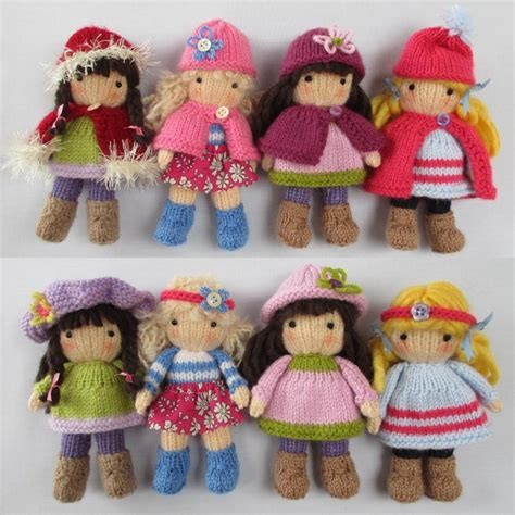 Little belles small knitted dolls knitting pattern by dollytime knitting patterns loveknitting