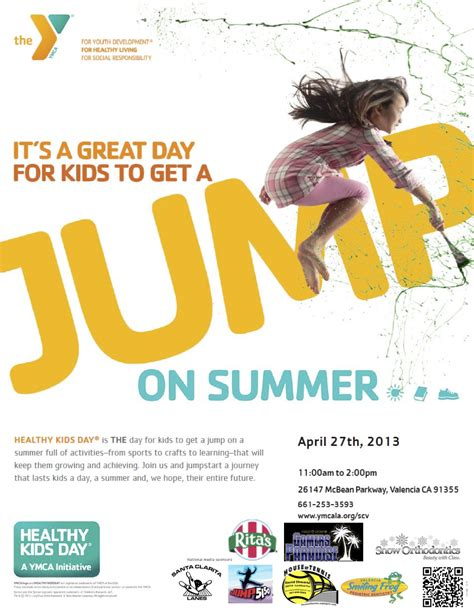 Scvnews Com Get A Jump On A Healthy Summer At Ymca S Healthy Kids Day 04 16 2013 Ymca Newsletter Template